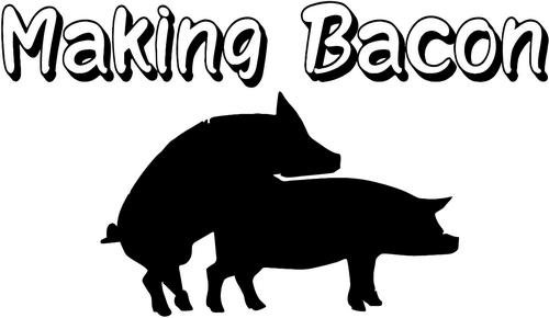 Making Bacon Pig Humping Funny Decal Sticker Car Motorcycle Truck Bumper Window Laptop Wall Décor Size- 8 Inch Wide Black Color