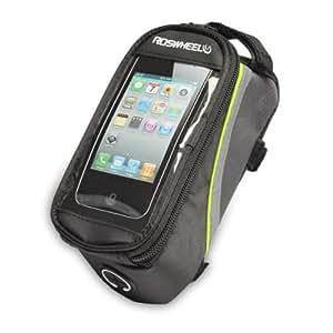 "ROSWHEEL® 4.8"" Funda Bolsa para Móvil teléfono Bicicleta Ciclismo Azul + Negro para Samsung GALAXY Note II, iphone 6s / 6/5 / 5s / 5c"