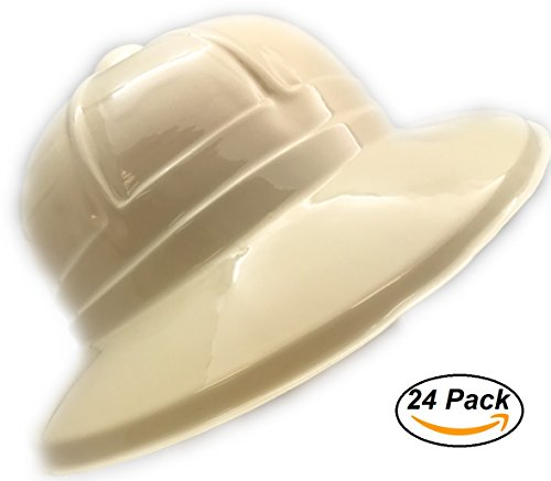 24 piece Jungle Safari Soft Plastic Hat Costume Birthday Party Favor Kids Toy by (Plastic Kids Helmet)