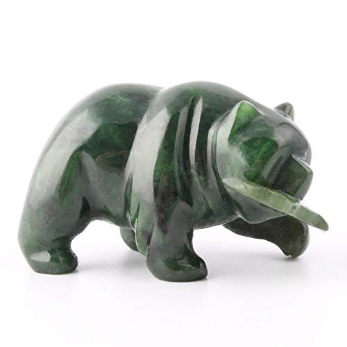 - Nephrite Jade Bear Carving - 2 inch