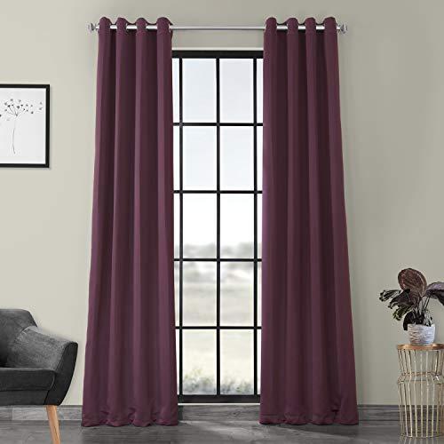 HPD HALF PRICE DRAPES BOCH-201301-96-GR Grommet Blackout Room Darkening Curtain, 50 x 96, Aubergine