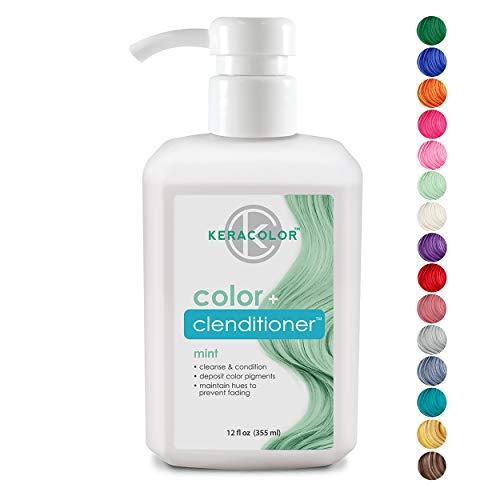 Keracolor Clenditioner Color Depositing Conditioner Colorwash, Mint, 12 fl oz (Hair Dye Mint)