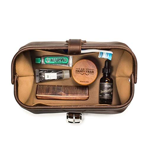 Saddleback Leather Co. Expandable Full Grain Leather Quality Toiletry Travel Bag Dopp Kit Shower Bathroom Accessory Includes 100 Year Warranty by Saddleback Leather Co. (Image #2)