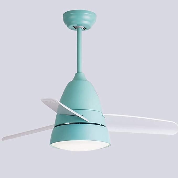 NAF Dormitorio Infantil Ventilador de Techo con luz con Mando a Distancia 3 Hoja de Ventilador de Color Ø36 Pulgadas Silenciosa, Segura Personalizable Blanco, Verde: Amazon.es: Hogar