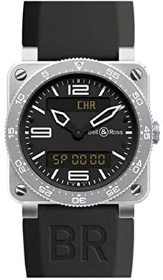Bell and Ross Type Aviation Black Dial Steel Case Mens Watch 03-TYPE-AVI-ST