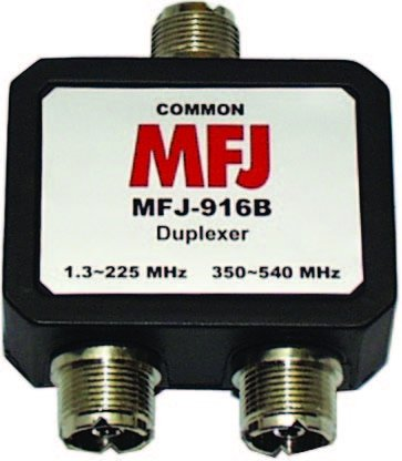 MFJ Enterprises Original MFJ-916B 1.8-225, 350-540 MHz Duplexer - SO-239 by MFJ