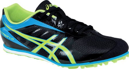 ASICS Men's Hyper LD 5 Track Shoe,Black/Lime/Blue,9.5 M - Ld Track