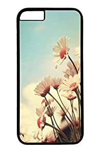 Personalized Protective Cases for New iPhone 6 PC Black Edge - Flower Sunset
