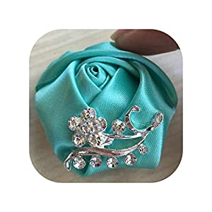 mamamoo Crystal Brooch Wedding Bouquet Decor Boutonniere Satin Rose Groom Corsage Brooch Flower,as pic13 99