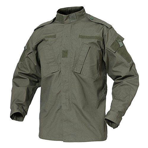 Camouflage Coat Men's Outdoor Tactical Camouflage Coat Lightweight BDU Jacket for Fishing Hiking -