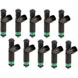 00-04 Ford F-250 Super Duty 6.8L V10 OEM Bosch 10x Fuel Injectors 12Hole Upgrade