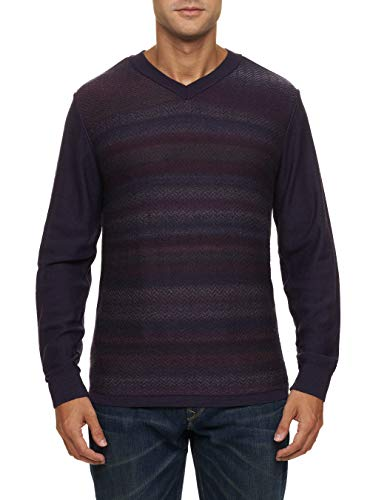 (Robert Graham Saket V-Neck Merino Wool Sweater Big Fit Purple 5Xlarge)