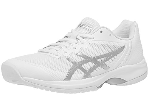 ASICS Womens Gel-Court Speed Sneaker, White/Silver, Size 6.5
