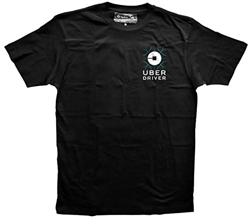 Uber T Shirt In Black Left Chest 2 Color, Uber Driver T Shirt, Ride Sharing Tee