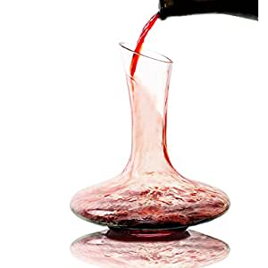 Bavel Wine Decanter - 100% Hand Blown Lead-free Crystal Glass, Red Wine Carafe, Wine Gift, Wine Accessories (1800ml)