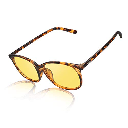 Night Driving Glasses Anti Glare Polarized Women & Men HD Vision Eyeglasses - Leopard