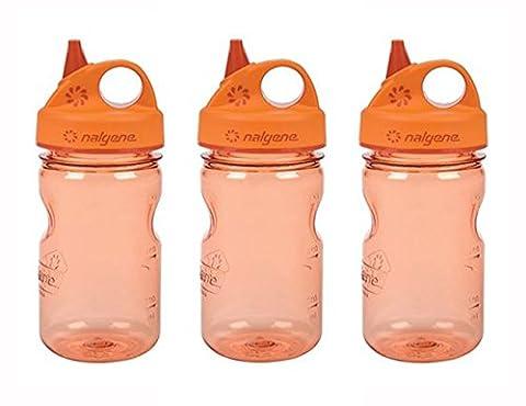 Grip-n-Gulp Kids Water Bottle Orange Set of 3 - Nalgene Grip N-gulp