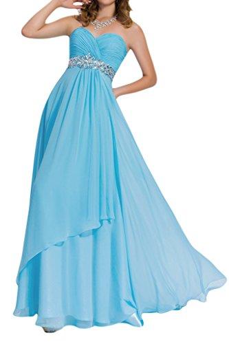 ivyd ressing Mujer favorita piedras a de línea forma de corazón fijo vestido gasa Prom vestido para vestido de noche Azul