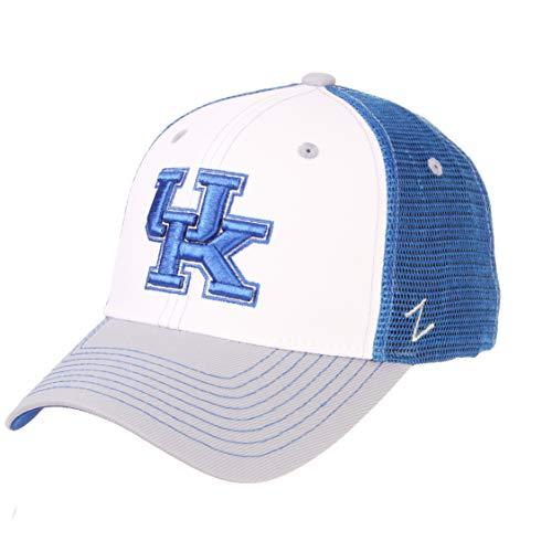 - Zephyr NCAA Kentucky Wildcats Men's Threepeat Relaxed Cap, White/Team Color, Adjustable