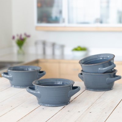 4-pack Glazed Tuscan Soup/chili Bowl Set Ocean ()