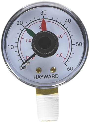 Hayward ECX271261 Boxed Pressure Gauge with Dial Replacement for Select Hayward Filter and Multiport Valve -