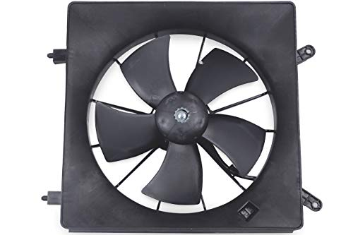BOXI Left/Driver Side Radiator Cooling Fan Assembly For Honda CR-V 2002-2006 / Honda Element 2003-2011 (Number Of Blades:5) 19030-PNA-003