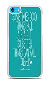 Trendy Accessories Marilyn Monroe Quote Design Print Image White Hardshell Case for iPhone 5C