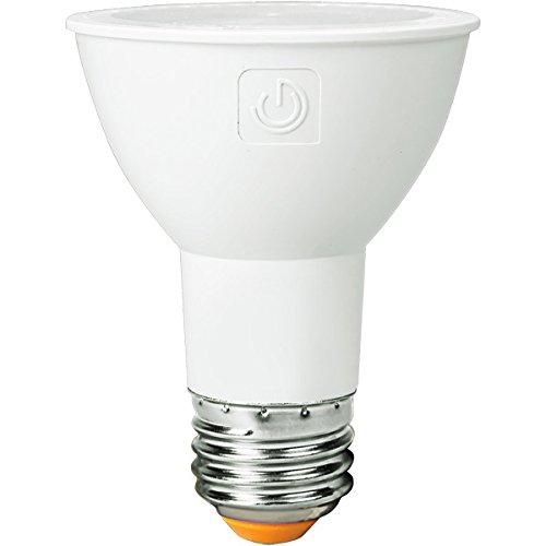 Green Creative 58108 PAR20 Flood LED Lightbulb, 3000K (Soft White), Dimmable, CRI 90, 8W, 550 lm, Energy Star, 25°