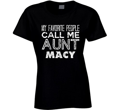 My Favorite People Call Me Aunt Macy Name Worn Look T Shirt M - Call Macys