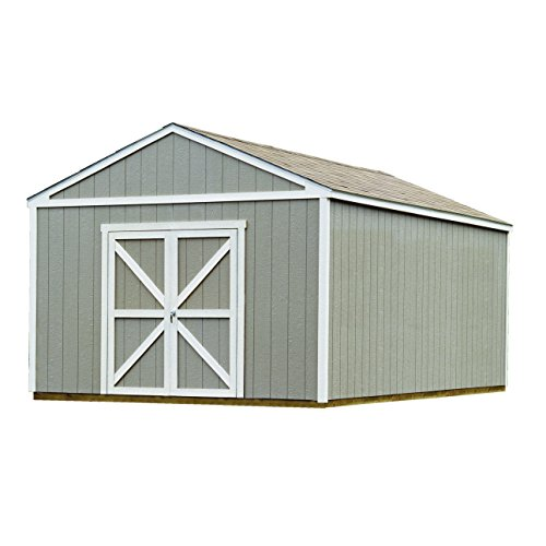 handy home products columbia wooden storage shed with floor 12 by 20feet