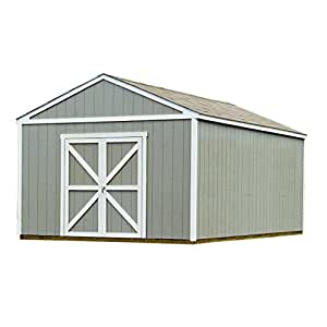 Handy Home Products Columbia Wooden Storage Shed, 12 by 20-Feet