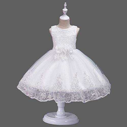 Size 134 Bridal 152 Ricami Evening 92 Tulle Girl 128 104 Agogo Pizzo Bambini 116 Dress White Flower Tulle 140 xqvnZwBF0
