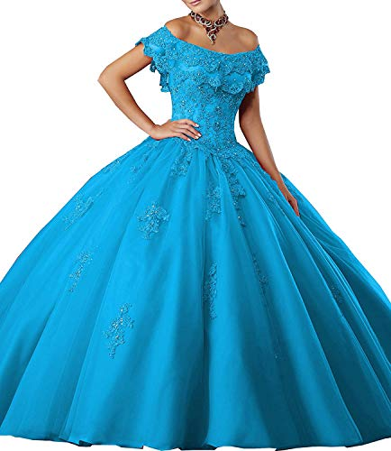 - Meledy Women's Gorgeous Long Princess Sweet 16 Prom Dreses Girls'Ball Gown Beads Dark Blue Quinceanera Dresses US8