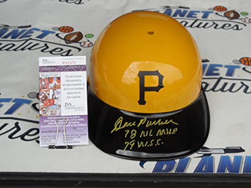 Dave Parker Signed Pittsburgh Pirates Authentic Throwback Batting Helmet with Dual 78 World Series Champs and 79 MVP Inscriptions JSA COA