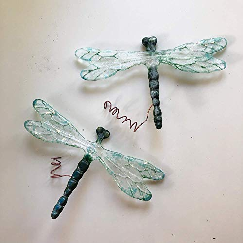 Glass Dragonfly suncatcher, Iridescent Garden Decor, Wedding Present