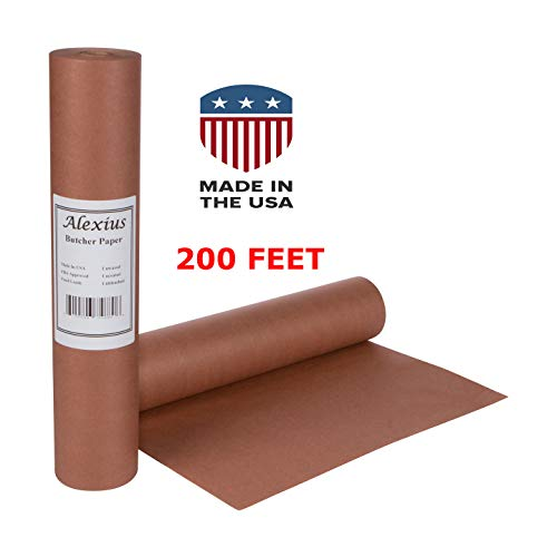(Pink/Peach Butcher Paper Roll: 18in x 2400in (200ft) + eBook: USA Made)