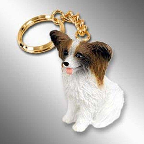 Papillon, Brown/White Tiny Ones Dog Keychains (2 1/2 in)
