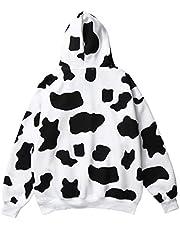 SOIMISS Dames Mode Hoodie Koe Printing Pullover Herfst Winter Hooded Sweatshirts-Maat M