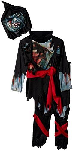 Zombie Ninja Costumes (Rubies Costume Child's Zombie Ninja Costume, Small, Multicolor)
