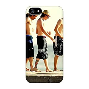 Perfect Hard Phone Case For Iphone 5/5s With Provide Private Custom Colorful Mcfly Band Image SherriFakhry