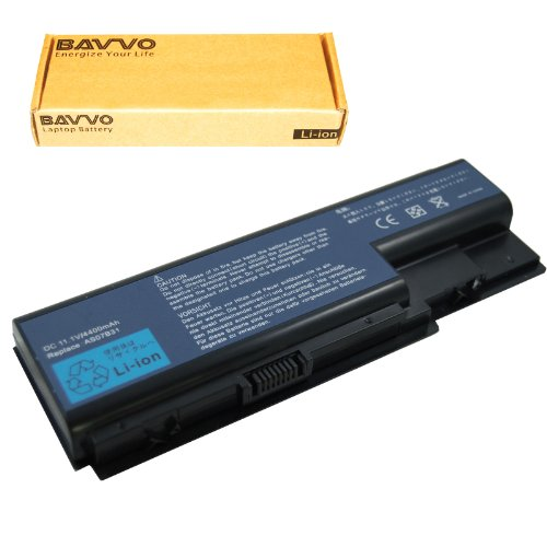 Bavvo Battery Compatible with Acer AS07B72 BT.00803.024 BT.00804.020 BT.00805.011 BT.00807.014, 11.1V