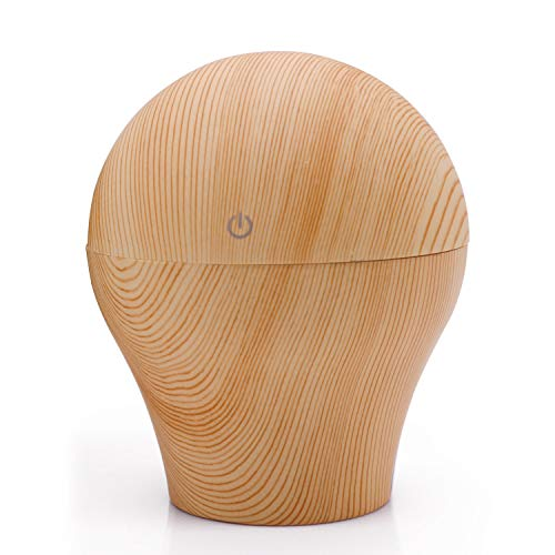 Xigeapg USB Ultrasonic Aromatherapy Diffuser Ultrasonic Cool Mist Humidifier for Office Home Bedroom Living Room Brown