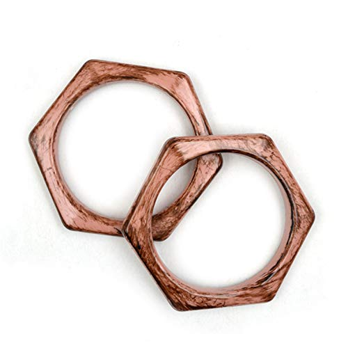 Ownstyle New Style Vintage Hexagon Shape Purse Handles Handbag DIY Acrylic Purse ()