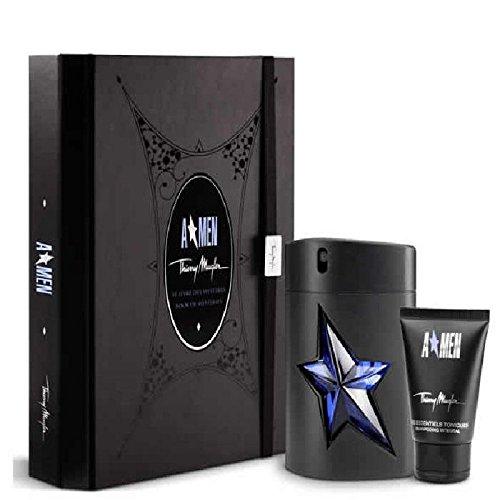 Thierry Mugler Men's Spray Rubber Flask 1.7 Oz, Hair and Body Shampoo 1.7 Oz in Box