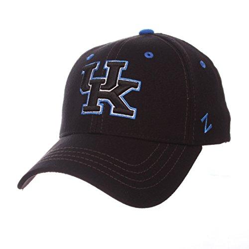 Zephyr University of Kentucky UK Wildcats Black Element DH Adult Mens Flex Fitted Baseball Hat/Cap Size -
