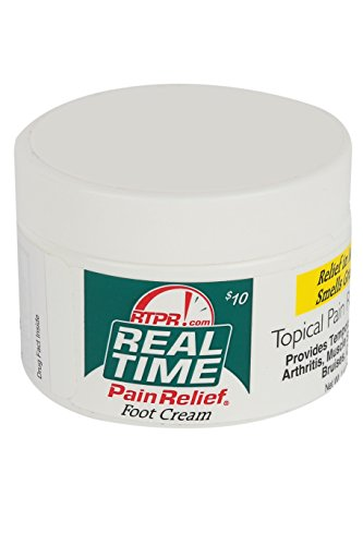 Real Time Pain Relief Foot Cream, 1.4 Ounce - Gout Pain Relief