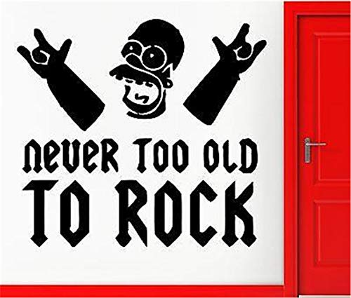 Mural Saying Wall Decal Sticker Art Mural Home Decor Quote Never Too Old to Rock for Music -