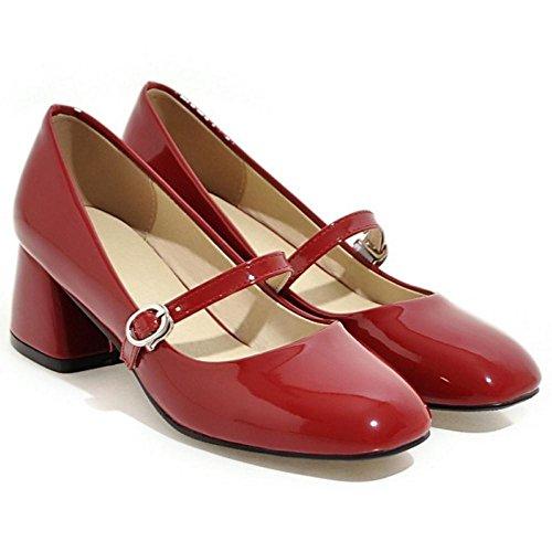 Schuhe Rot TAOFFEN Jane Frühling Frauen Mary Znngxaw8