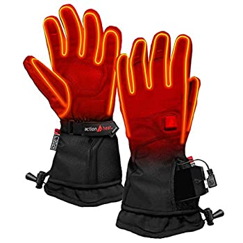 Image of ActionHeat 5V Premium Heated Glove – Men, Battery Heated Gloves w/ 3-Heat Settings, Extended Gauntlet, Touch-Control, Rechargeable Electric Gloves Sport