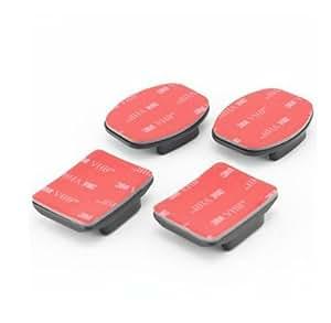 JMT 2pcs Flat + 2pcs Curved Adhesive Sticky Mount for Gopro Hd Hero2 Hero3 Camera Sport Dv